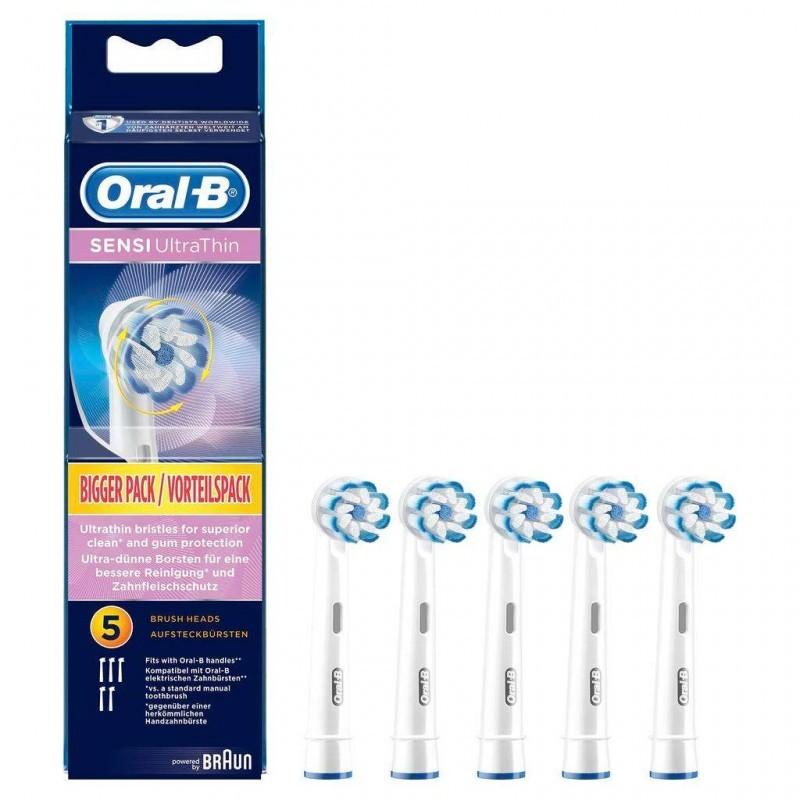 3 Oral-B SENSI UltraThin šepetėlių galvutės jautriems dantim